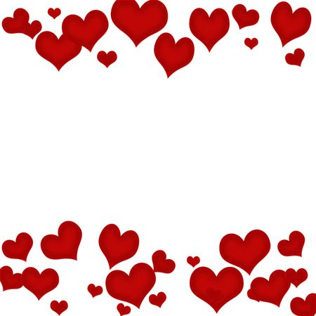 white background: Red hearts on a white background, heart background