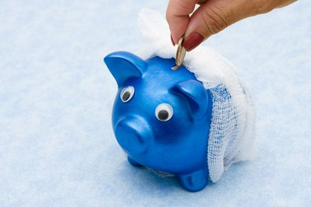 premiums: Adding to your medical care savings,  medication costs Stock Photo