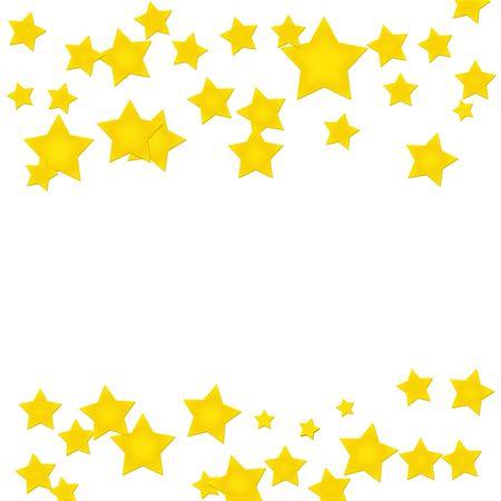 Gold stars making a border on a white background, gold star border Stock Photo - 6377955