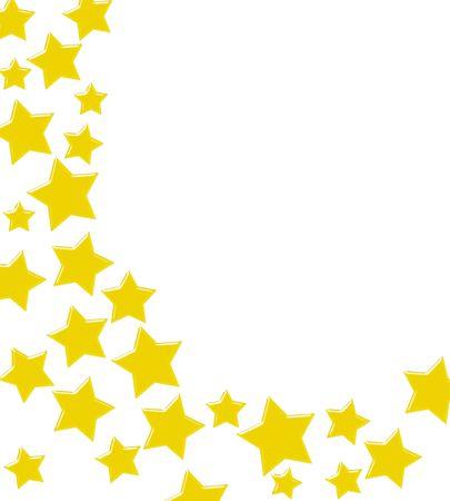 Gouden sterren maken van een rand op een witte achtergrond, het winnen van goud sterren grens