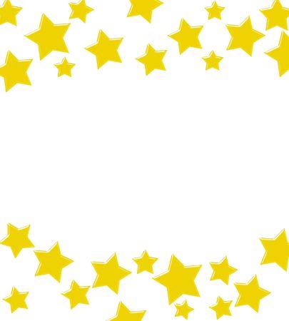 Gouden sterren maken van een rand op een witte achtergrond, een winnende Gouden sterren grens