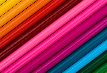 Colorful pencil crayons, Education background