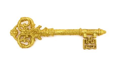 A golden retro skeleton key, Key to success Stock Photo - 7315612