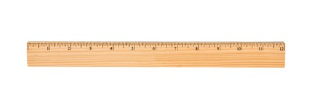 A wood ruler isolated over a white background photo
