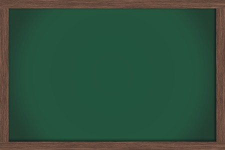 An empty green chalkboard , School Days Stock Photo - 7356268