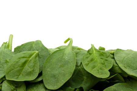 A pile of spinach isolated on white, Super Food Spinach