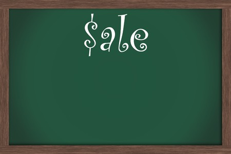 Green chalkboard with word sale and lots of copy space, Sale Days Stock Photo