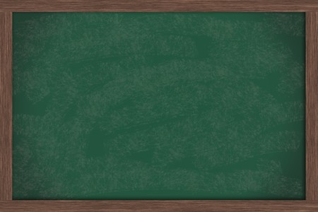 A blank green chalkboard with a wooden frame, chalk board Stock Photo - 7473185