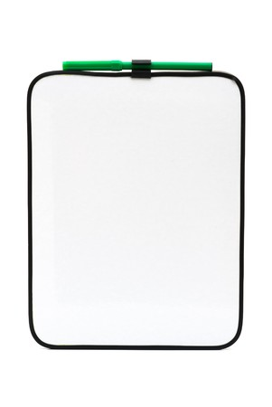 A bulletin board with marker, Empty white board for your message photo