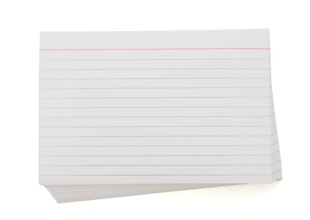 card file: A blank stack of index cards with copy space for your text