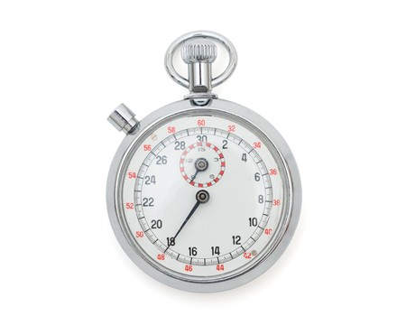 A stopwatch isolated on a white background, timing