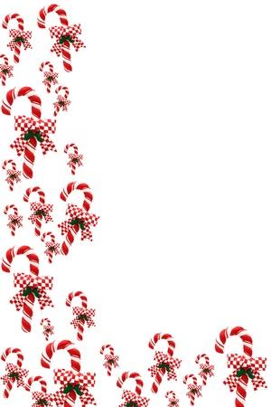 Een candy cane rand op een witte achtergrond, grens van Kerstmis Stockfoto - 8279447