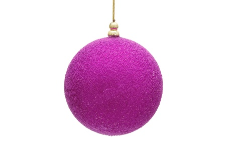 A purple christmas ball isolated on a  white background, christmas time