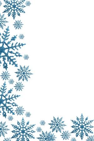 白い背景と、冬時間で雪の罫線 写真素材 - 8286292