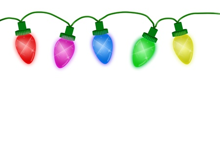 christmas lights illustrated on a white background christmas lights background stock photo 8366485