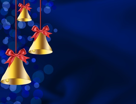 christmas bells: Christmas bells illustrated on a red background, christmas time