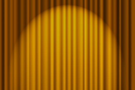 A gold textured background, stage curtain Фото со стока - 9514304
