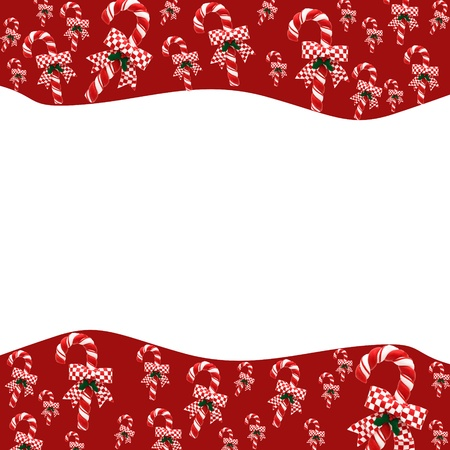 A candy cane border on a white background, candy cane border