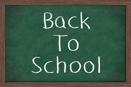 Back to School written on a blackboard, School Days Stock Photo - 9559415