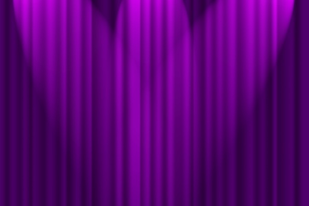 A purple textured background, stage curtain with spotlights Banco de Imagens