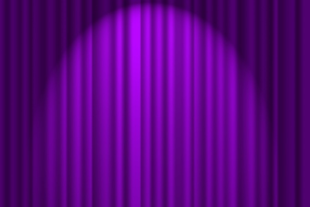 A purple textured background, stage curtain Banco de Imagens - 9579871