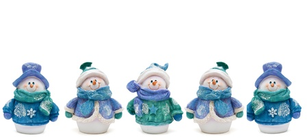 snowmen and a white background, Winter Time Stock Photo - 9579883