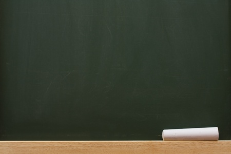 study: Chalk on a chalkboard with lots of copy space, School Days