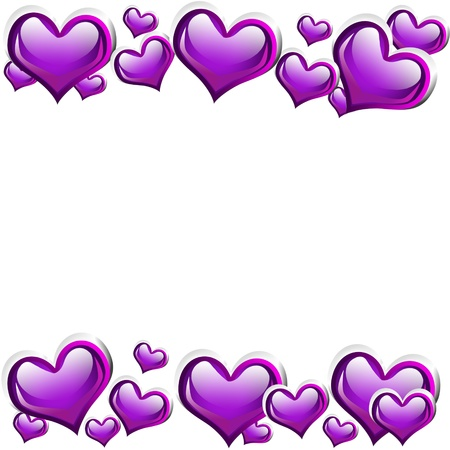 purple hearts: A purple heart background isolated on a white background with copy space, romantic background