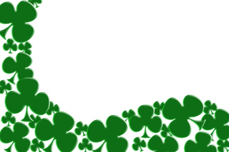 Green shamrocks isolated on white for a Saint Patricks background photo