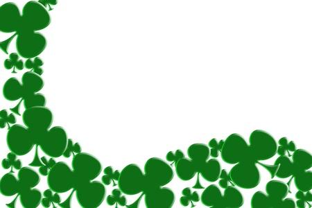 Green shamrocks isolated on white for a Saint Patricks background Stock Photo - 10727620