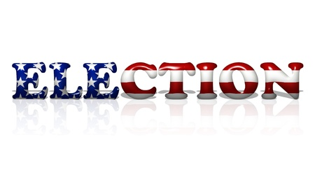 state election: The word vote in the American flag colors, American Election Stock Photo