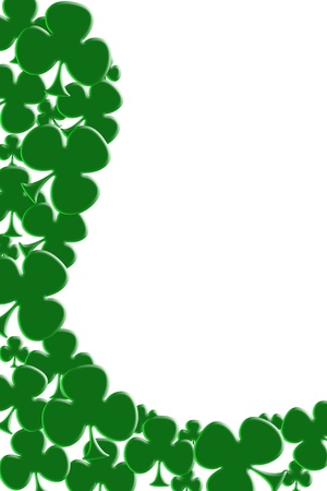patrick: Green shamrocks isolated on white for a Saint Patricks background