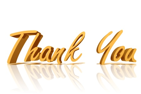 Golden Thank You with copy space Imagens
