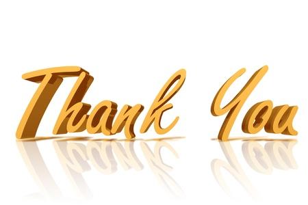Goldene Thank You mit Kopie Raum