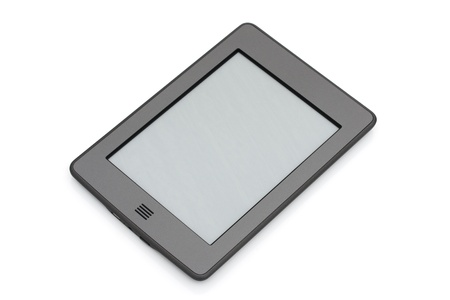 kindle: A touch e-reader isolated on white
