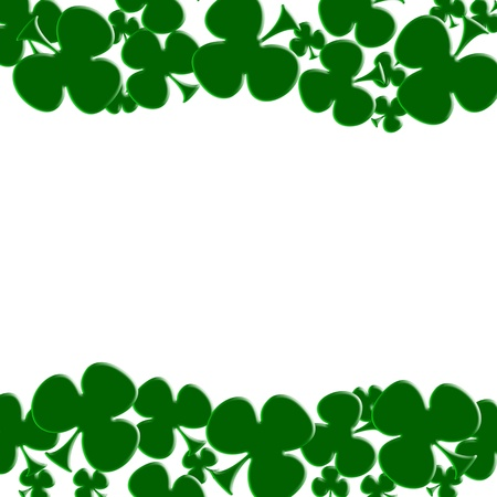 Green shamrocks isolated on white for a Saint Patricks background photo