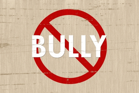 No bully sign on a grunge beige background Stock Photo - 14352055