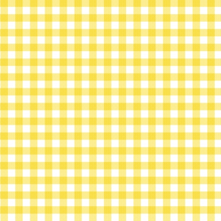 A pastel yellow gingham fabric background that is seamless photo