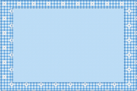 Blue gingham material for a border with copy-space,  Baby Blue Background for your message photo