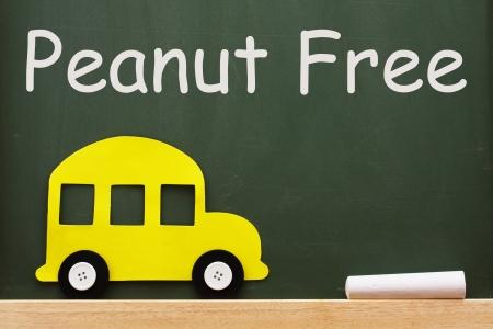 Chalkboard words Peanut Free, Schools that are peanut free Imagens