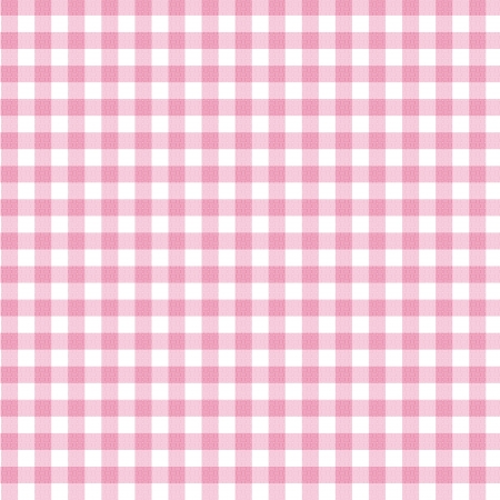 gingham: A pastel pink gingham fabric background that is seamless