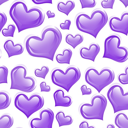 Purple Hearts background that is seamless Stock Photo - 14658736