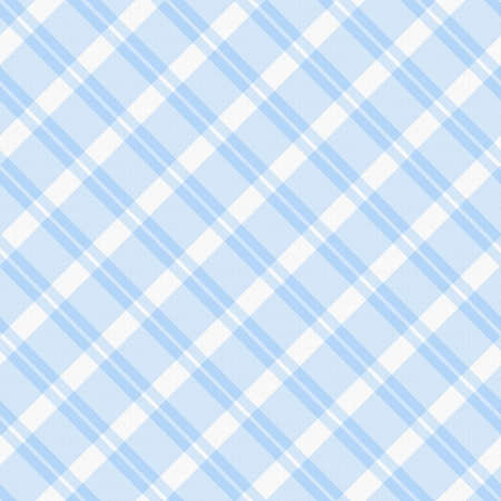 A light blue plaid fabric  background that is seamless Stock Photo - 15200979