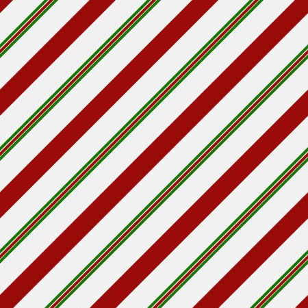 candy cane: Red, Green and White Striped Fabric Background that is seamless and repeats