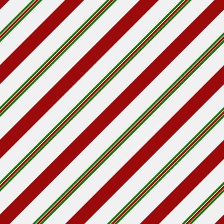 Rood, Groen en wit gestreepte stof achtergrond die naadloos en herhaalt