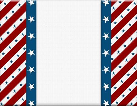 メッセージまたは途中でコピー スペース付き招待状赤と白のアメリカの祭典フレーム