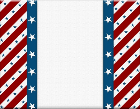 columbus: Red and White American celebration frame for your message or invitation with copy-space in the middle Stock Photo