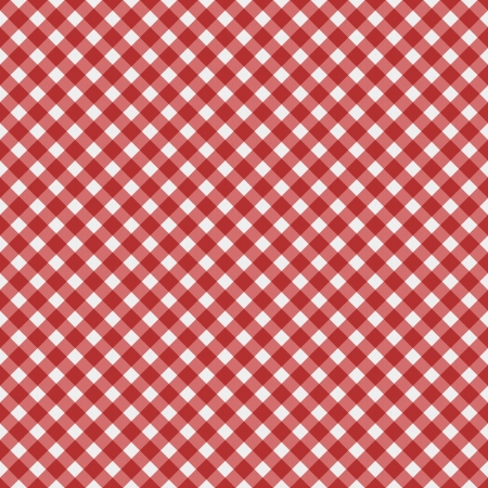 gingham: Red  gingham fabric  background that is seamless Stock Photo