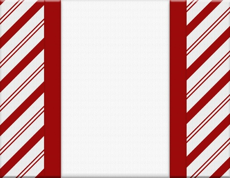 christmas backdrop: Red and White Christmas Frame for your message or invitation with copy-space in the middle