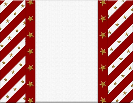Red and White celebration frame with stars for your message or invitation with copy-space in the middle Stock Photo - 15506443